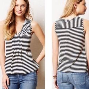 Anthropologie Postmark Pipi Striped Nautical Top S